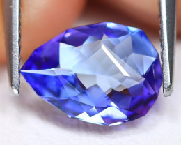 Tanzanite 1.22Ct VVS Master Cut Natural Purplish Blue Tanzanite ET151