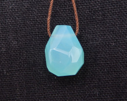 17.5cts Beautiful blue jade pendant, faceted jade pendant H1572