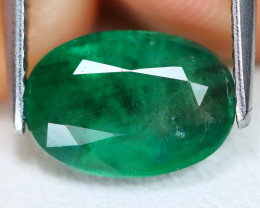 Zambian Emerald 2.51Ct Oval Cut Natural Green Color Emerald B0708