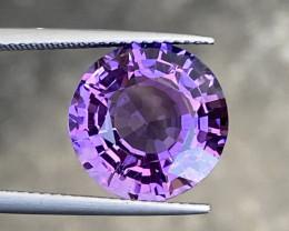 Natural Amethyst 7.44 Excellent Round cut Gemstone