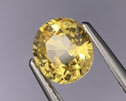 1.52 Cts Certified Srilanka Unheated AAA Quality Bright Yellow Sapphire