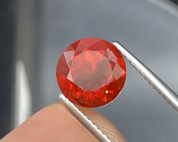 1.77 Cts Fine Grade Amazing Luster Red Color Natural Mexican Fire Opal