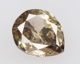 *No Reserve* Diamond 0.51 Cts Untreated Fancy Yellowish Brown Natural