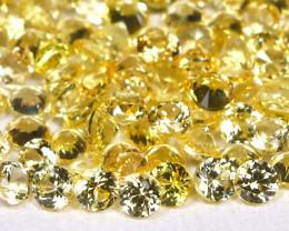 4.47Ct Calibrate 1.7mm Round Natural Ceylon Yellow Sapphire Lot B0801