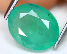 Zambian Emerald 1.89Ct Oval Cut Natural Green Color Emerald B0803
