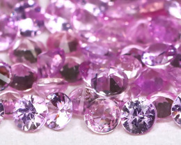 3.52Ct Princess 2.1mm Natural Untreated Pink Color Sapphire Lot B2711