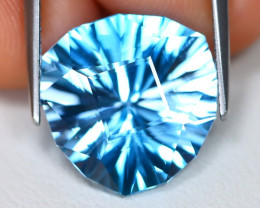 Swiss Topaz 10.87Ct VVS Master Laser Cut Natural Swiss Blue Topaz C0815