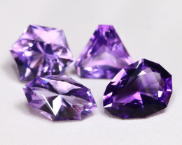 Amethyst 11.06Ct Master Cut Natural Bolivian Purple Amethyst Lot C0817