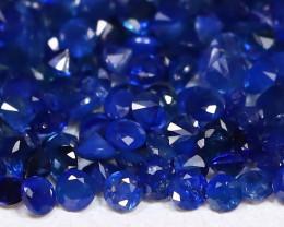 3.48Ct Calibrate 1.1mm Round Natural Blue Color Sapphire Lot C0901