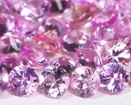 3.24Ct Princess 2.5mm Natural Untreated Pink Color Sapphire Lot C0905