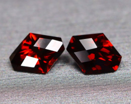 Almandine 3.42Ct 2Pcs Pixalated Cut Natural Almandine Garnet C0906