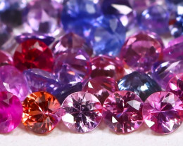 2.56Ct Round 2.2mm Natural Untreated Fancy Color Sapphire Lot C0908