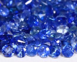 7.15Ct Calibrate 1.9mm Round Natural Blue Color Sapphire Lot C0913