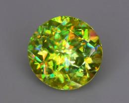 Green Titanite Sphene 1.39 ct Rainbow Dispersion Madagascar  Sku-72