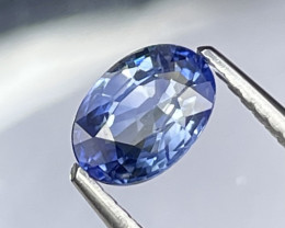 1.01 Cts Fine Quality Cornflower Blue Natural Sapphire Good Luster