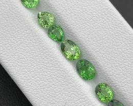 3.76 Cts Top Quality Vivid Green Natural Tsavorite 8 Pcs