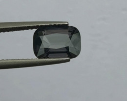Lovely 2.38ct Burmese deep grey spinel