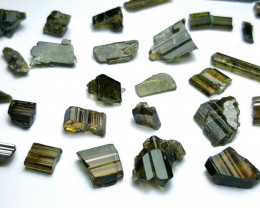 Amazing Natural color Faceted grade rough Epidote lot 98Cts-P