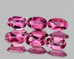 5x3 mm Oval 6pcs 1.37cts Pink Tourmaline [VVS]