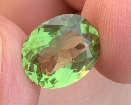 3.90 carats Transparent  Green colour Tourmaline Gemstone  From Afghanistan