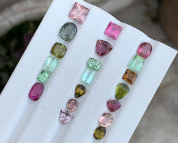 19.45 carats mixed colour Tourmaline Gemstone From Afghanistan