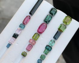 20.70 Carats multi colour Tourmaline Gemstone From Afghanistan