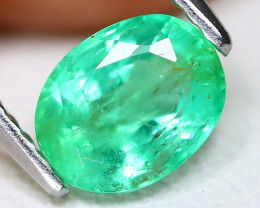 Zambian Emerald 1.12Ct Oval Cut Natural Green Color Emerald A1014