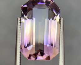 10.64 Cts  FALWLESS BOLIVIAN  AMETRINE Fancy cut   Gemstone