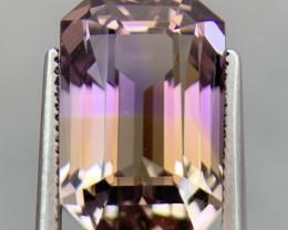 9.30 Cts  FALWLESS BOLIVIAN  AMETRINE Fancy cut   Gemstone