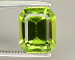 Emerald Cut 2.35 ct Lovely Color Peridot Jewelry Size