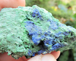 36.97g CONICHALCITE AZURITE SPECIMEN FROM LAVRION MINES GREECE