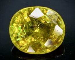 0.68 Crt Natural Sphene Faceted Gemstone.( AB 83 )