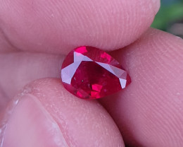 CERTIFIED 1.22 CTS TOP QUALITY PIGEON BLOOD RUBY MOZAMBIQUE