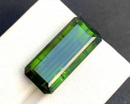 16.35 Carats Grass Green Color Natural Africian Tourmaline Gemstone