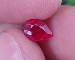 CERTIFIED 1.01 CTS TOP QUALITY PIGEON BLOOD RUBY MOZAMBIQUE