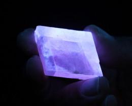 Fluorescent Minerals calcite cube MM 100