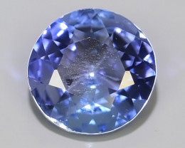 0.75 Ct VS Exclusive Round Cut 6.02 mm Natural Rare Tanzanite~