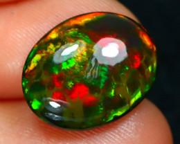 Rare Black Opal 2.65Ct Natural Ethiopian Black Smoked Opal C1107