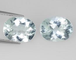 Aquamarine 4.36 Cts 2 Pcs Unheated Blue Natural Gemstone