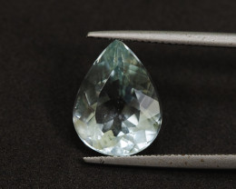 5.9ct Natural Lab Certified Pear Shaped Aquamarine