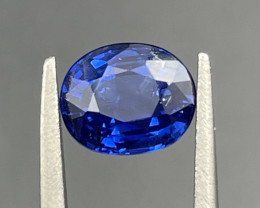 1.63CT Sapphire Gemstones Royal Blue From Sri Lanka Ceylon top color with f