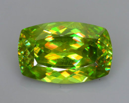 Rare AAA Fire 4.00 ct Chrome Sphene Sku-73