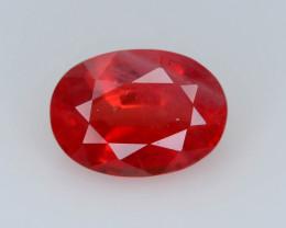 Top Grade 1.10 ct Orangish Red  Sapphire