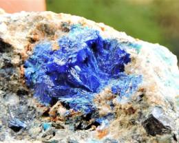 30.93g LINARITE SPECIMEN ELECTRIC BLUE KING ARTHUR MINE THRACE GREECE