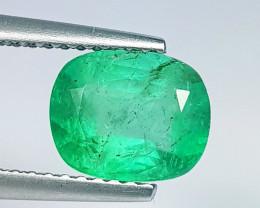 1.68 ct  AAA Grade Gem Excellent Cushion Cut Natural Emerald