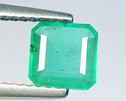 0.85 ct   Top Grade Gem  Stunning Square Cut Natural Emerald