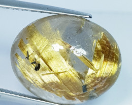 24.00 Ct Top Grade Beautiful Oval Cab Natural Golden Rutile Quartz