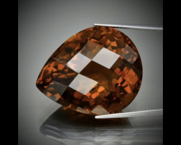 61.25ct Jumbo! IF Yellowish Orange Quartz UNHEATED, Brazil