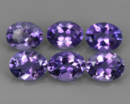 6.65 CTS MAGNIFICENT VIOLET AMETHIYST~OVAL CUT~DAZZLING!!
