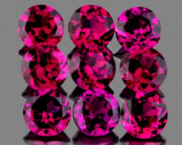 3.50 mm Round 9 pcs 2.03cts Pinkish Purple Rhodolite [VVS]
